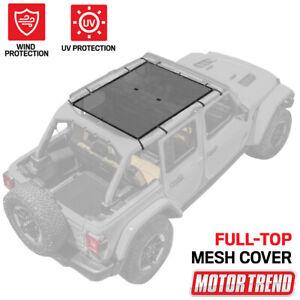"Motor Trend Mesh Sunshade Bikini Top Cover for Jeeps Full Top 69""x42.5"""