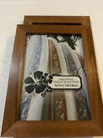 Lot Of 2 - 5x7 Solid Wood Picture Frame Tropical Wood Finish - Scratched Wood