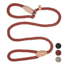 Braided Rope Pet Dog Slip Leash Strong Adjustable Dog Training P-Leash & Collar