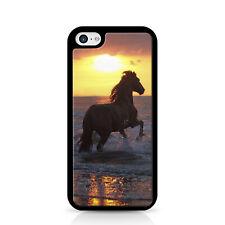 Horse Sunset Black Phone Case