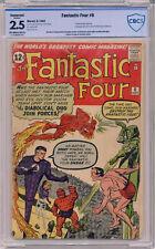 Fantastic Four #6 CBCS 2.5 Conserved Second Sub Mariner Dr Doom