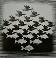 SKY AND WATER I BIRDS & FISH Modern Visual Perception Graphic Artist M C Escher