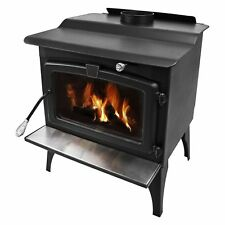 Pleasant Hearth 1 800 SQ FT Wood Burning Stove With Blower Medium Lws-127201