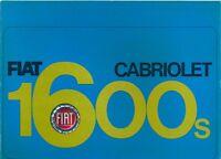 Fiat 1600S Cabriolet French market original colour sales brochure