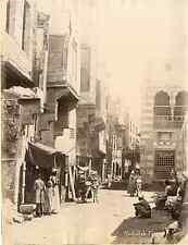 Abdullah Frères, Egypte, Le Caire, rue du Caire Vintage albumen print,  Ti