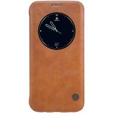 Samsung Galaxy S7 Edge G935 Nillkin Wallet Case Qin Series Window Etui Bag Braun