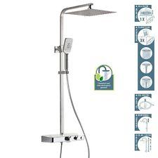 Überkopfbrauseset mit Thermostat Duscharmatur Regendusche Duschkopf Duschpaneel