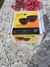 FIESTA NEW CHOCOLATE BROWN PREP BOWL SET  1 qt & 2 qt BOWL NIB FIESTAWARE