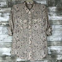 Women's Ann Taylor LOFT Silk Button-Up Blouse sz S cute comfy