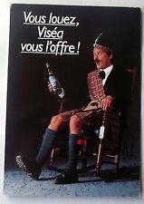 Carte publicitaire Visea, ecossais kilt Clan Campbell