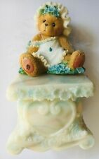 Very Rare Cherished Teddies 661759 Willow Angel Sitting Pedestal Feather Wings 9