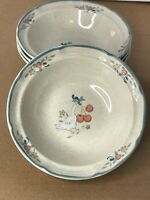 Set of 4 Vintage International China Marmalade Geese / Goose soup/ cereal bowls