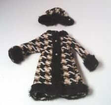Vintage Barbie Mod Coat And Hat Matching Set With Faux Fur Trim Untagged