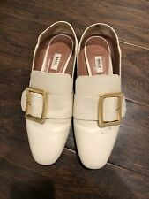 Bally Women's Janelle Leather Loafer Shoes EU 39 Gold Buckle