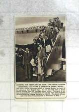 1955 South African Cricketers Landing London Airport For English Tour