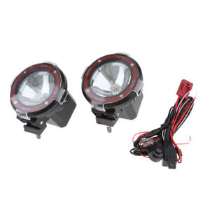 2 x 4INCH 55W SUV JEEP DRIVING LIGHTS HID XENON SPOT 4WD ATV WORK LIGHT 12V
