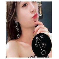 Fashion Hollow Butterfly Heart Long Chain Earrings Women Party Jewelry Gift New