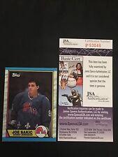 HOF JOE SAKIC 1989-90 TOPPS ROOKIE SIGNED AUTOGRAPHED CARD #113 JSA CERTIFIED