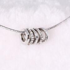 SWAROVSKI ELEMENT CRYSTAL Sterling Silver Plated &Crystal Rings Pendant Necklack