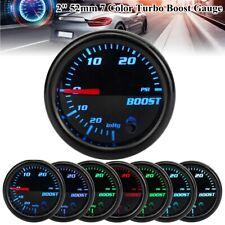 "2"" 52mm Car LED Mechanical Turbo Boost Gauge PSI Press Pressure Vacuum Meter 12V"