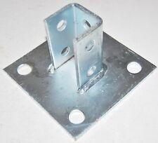 """Strut  Post Base Bracket -Superstrut/ Powerstrut- 10 Hole -- 6"""" x 6"""" Base"""