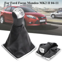 6 Speed Gear Stick Shift Shifter Knob Gaiter Gaitor Boot for Ford Focus MK2 MK3