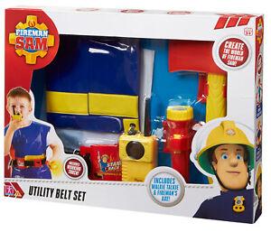 03369 Fireman Sam Utility Belt Set inc Torch & Pretend Walkie Talkie Age 3+