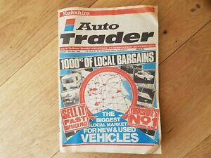 Vintage Auto Trader Magazine August 1988 Yorkshire