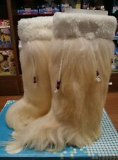 DIADORA scarpa donna stivale in pelo ,Tg 36, beige panna,, 1254, Bellissima