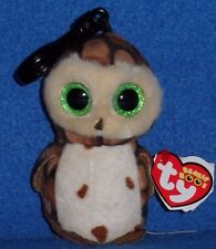 TY BEANIE BOOS - SAMMY the OWL KEY CLIP - MINT with MINT TAG
