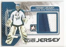 10/11 ITG HEROES & PROSPECTS GAME USED JERSEY SILVER #M59 Nathan Lieuwen /40