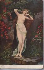 LIEBE AMOUR Love Amore NUDE Girl Nudo PC circa 1910
