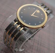 Movado Esperanza Diamond 2Tone 18K Gold. P/S. Steel model # 0607191 Men's Watch