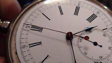 Edouard Heuer  Chronograph Taschenuhr aus Silber  1890 RAR !