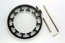 Adjustable Gear Ring For Follow Focus Belt 80~90mm For DSLR Lens Mod 0.8 black