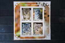 Leoparden 05 Schneeleoparden Irbis Katzen Tiere animals Fauna postfrisch ** MNH