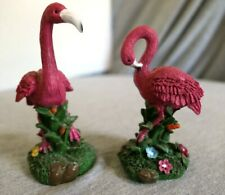 FLAMINGO,RED IRIS MINT AMAZING MINIATURE PORCELAIN WADERS FIGURINES COLLECTION