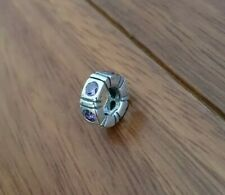 Pandora Charm. Stirling Silver with purple stones.