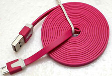 6FT Micro USB Data Charger Noodle Cable for Samsung S3 S4 S5 Note 3 4 Sony Z2 Z3