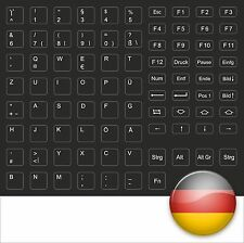 TASTATURAUFKLEBER KEYBOARD STICK DEUTSCH GERMAN SCHWARZ - FOR BLACK NOTEBOOKS