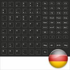 TASTATURAUFKLEBER KEYBOARD STICK DEUTSCH GERMAN SCHWARZ - FOR BLACK NOTEBOOKS