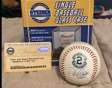 DEREK JETER SIGNED BALL INSCRIBED 3465 DEREK JETER AUTO INSCRIPTION STEINER MLB