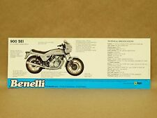 Vtg Benelli 900 SEI Motorcycle Brochure Flyer Pamphlet Features Specifications