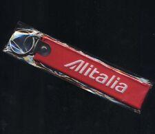 ALITALIA airline key ring REMOVE BEFORE FLIGHT crew pilot freccia alata pin aa