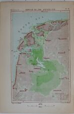 1873 MAP DEPTHS OF THE ZUIDER-ZEE AMSTERDAM PETTEN VLIELAND STAVOREN