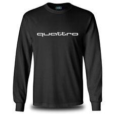 Genuine Audi Car Racing Team Streetwear Motorsport Black Long Sleeve Tee T-Shirt