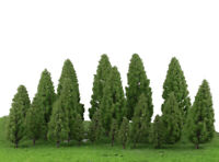 20pcs Tower Shaped Trees Model Train Wargame Diorama Garden Scenery 5-16cm