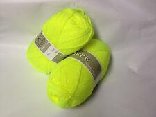 1 pelote laine layette / jaune fluo / produit FRANCAIS
