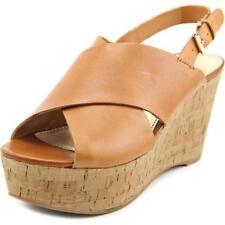 Sandalias y chanclas de mujer de tacón alto (más que 7,5 cm) de color principal marrón talla 40