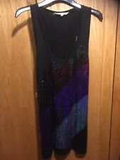 Women's Red Herring Sparkle/Sequinned Vest Top/Tunic BNWT Size 12